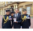Maj (Retd) Hemchandra Rai BEM was awarded MBE at Buckingham Palace