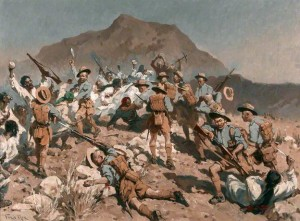 2nd Battalion 5th Gurkha Rifles at Ahnai Tangi, North-West Frontier, India, 14 January 1920.