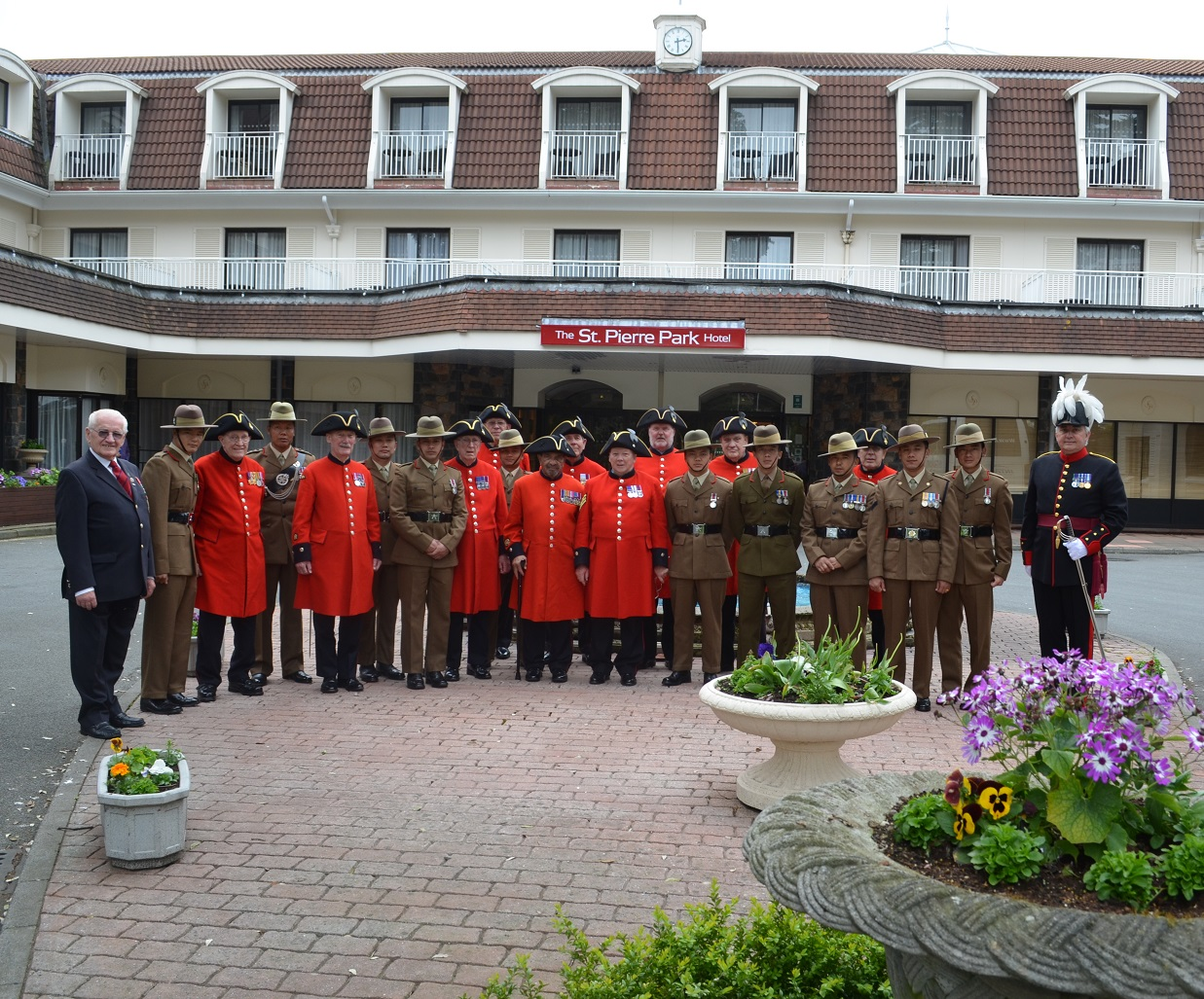 with Chelsea Pensioners