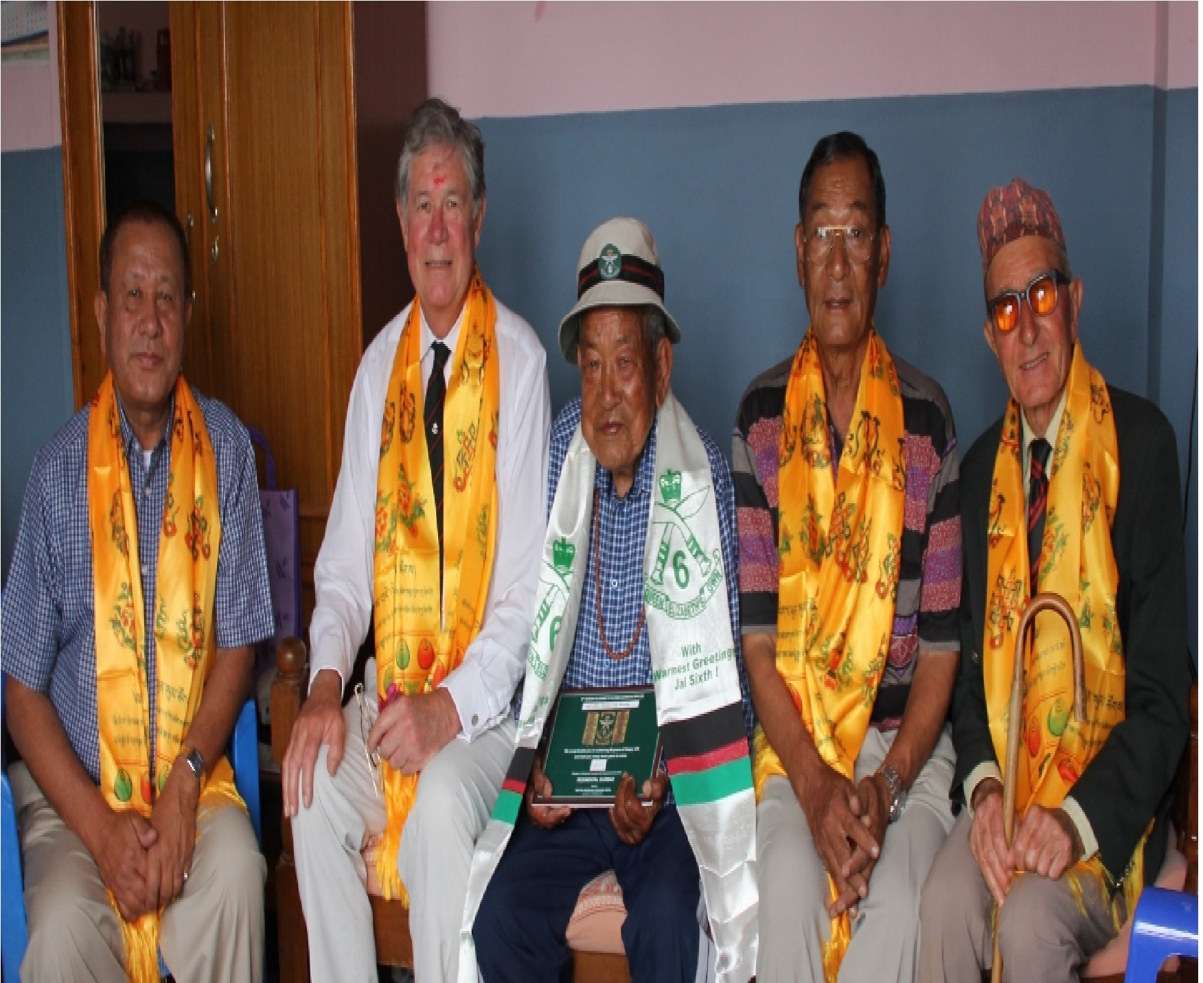 Maj Gyan, Brig John, Capt Bhakansing, Maj Gopal and Lt Col John