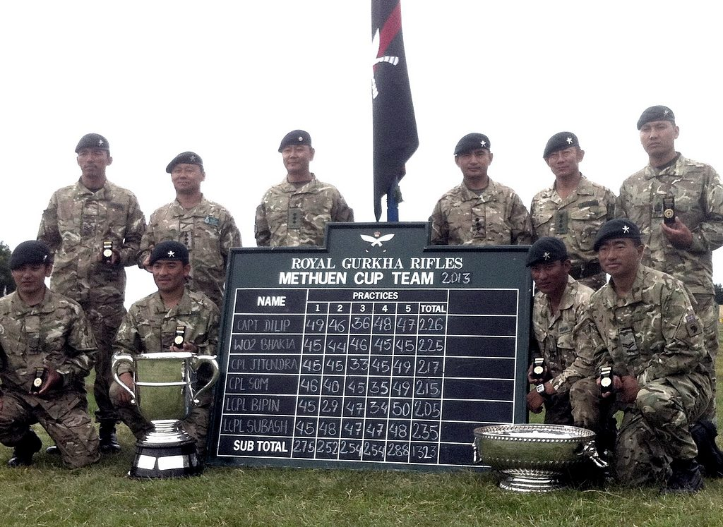The winning RGR shooting team with their trophies.