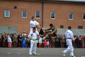 Gurkha Company Platoon Commander displaying his Karate skills