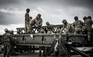 A Troop involvement on Medium Girder Bridge supervised by SSgt Sanjay Thapa.