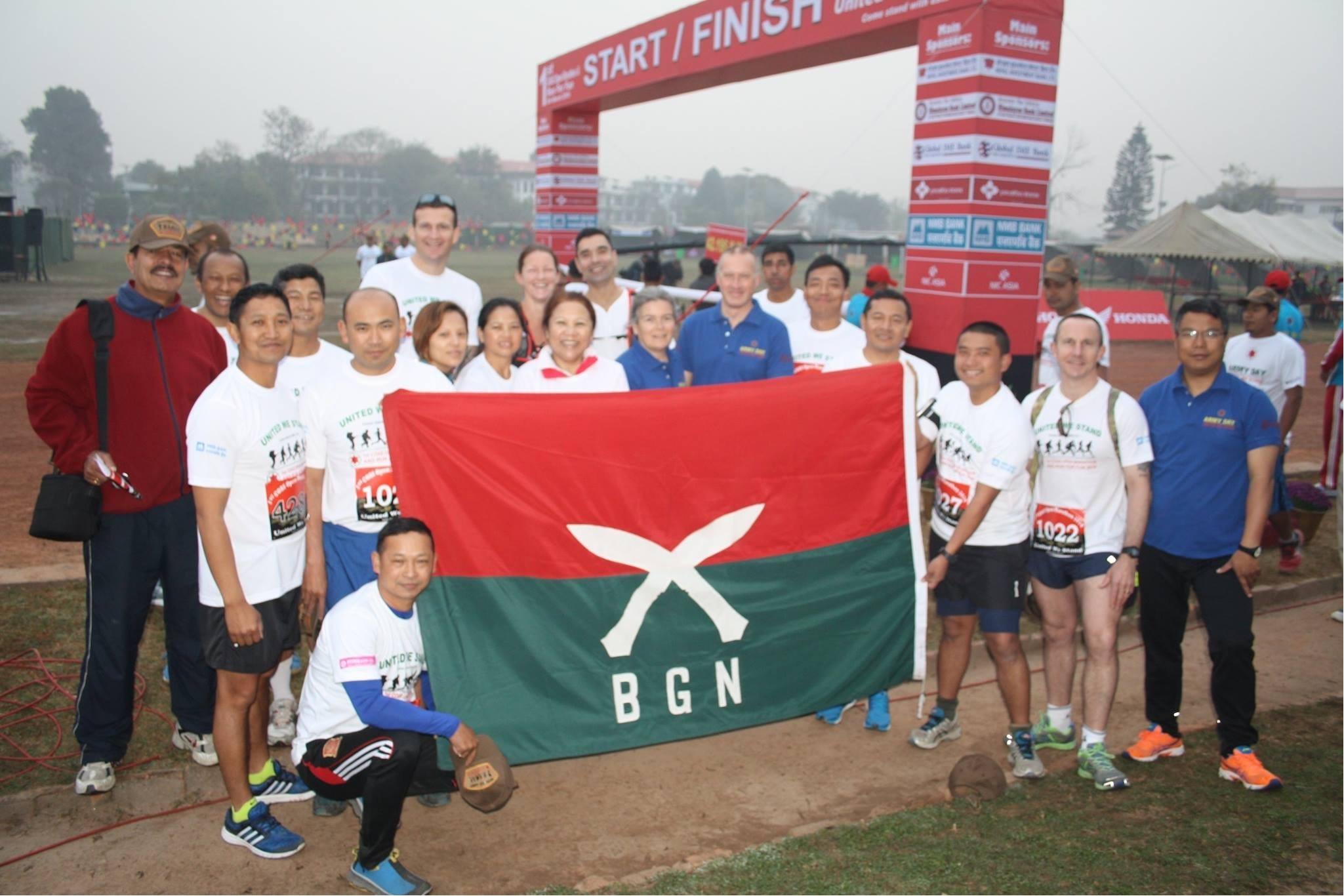 BGN staff in 1st COAS marathon