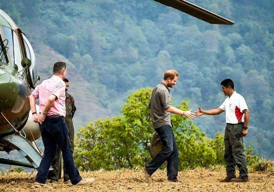 HRH Prince Harry meets Maj Prakash - Copy