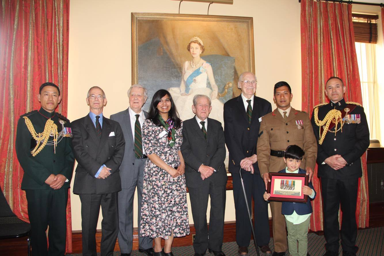 LCpl Anil receiving medals at Museum