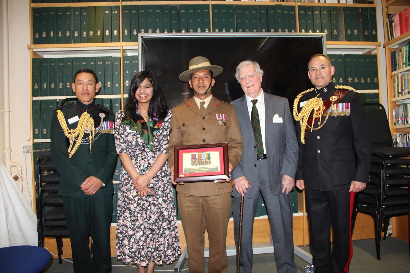 LCpl Anil receiving medals at Museum2