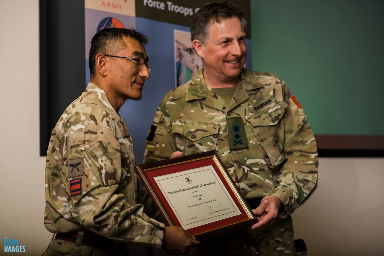 Capt Govindra Rana CGS Commendation
