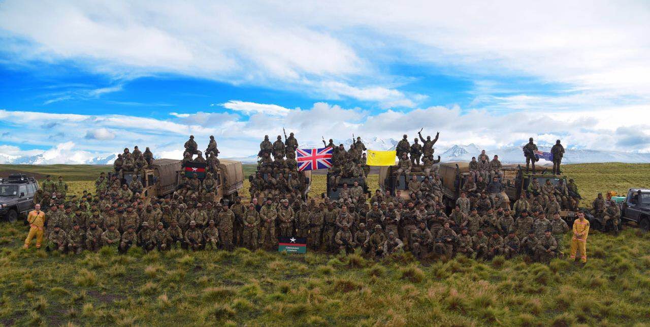 The Gurkhas and NZDF in a group photo after the Final Attack