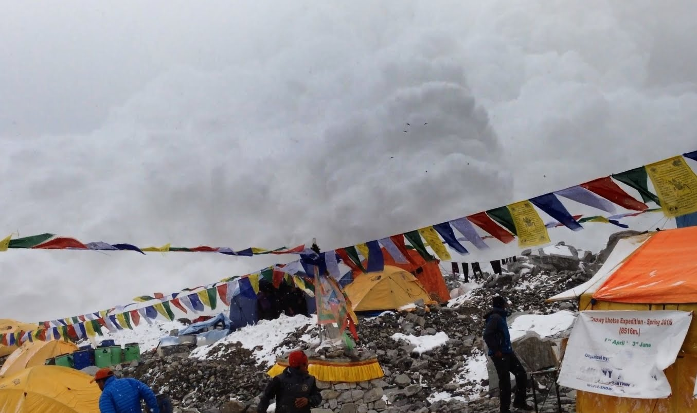 Caught on camera - the avalanche that hit Base Camp