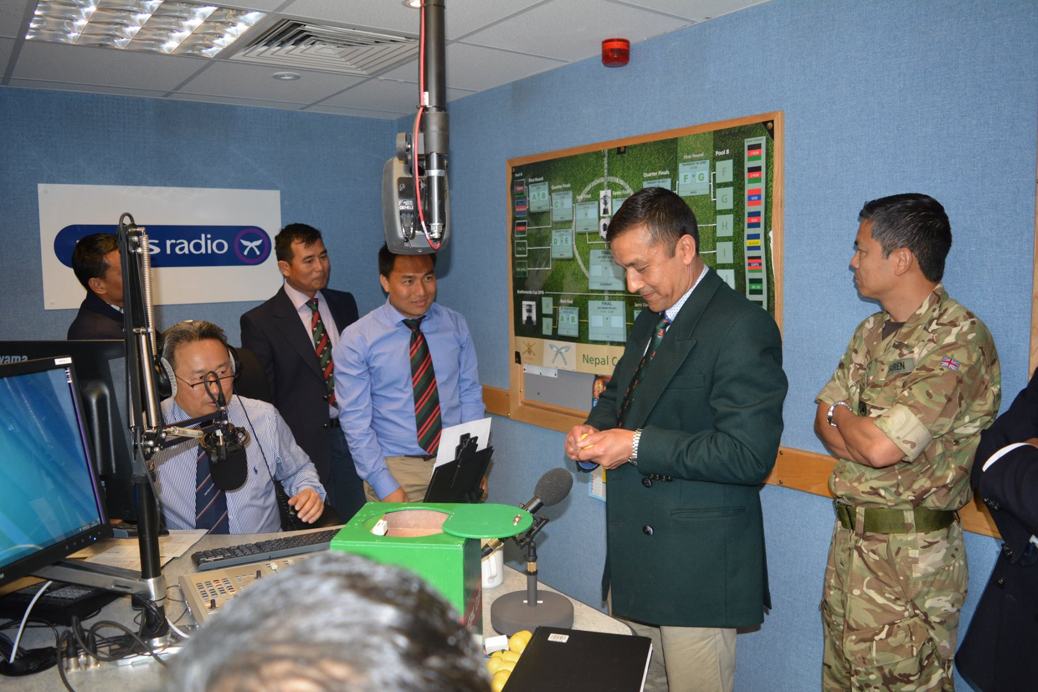 Capt Dhalindra Khatri Chhetri taking his part in the draw