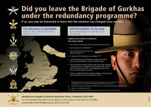 Gurkhas redundancy programme