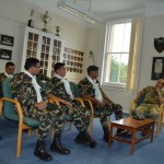 DCOS HQBG brieifing the  Nepalese Army team