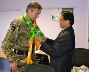 General Bashall with Gurkha veterans