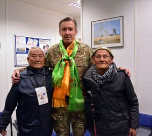 General Bashall with Gurkha veterans
