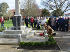 Wreath laying New Milton