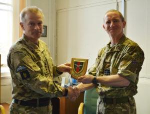 Col Brigade of Gurkhas greets OC 28 Sqn RAF