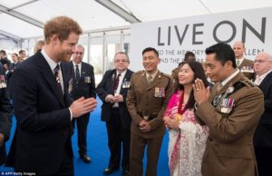 Prince Harry greet Gurkhas