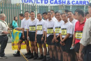 Gurkha Trainees at the race start point