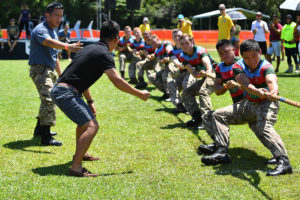 TROOPS FROM BFB GARRISON ENJOY HIGHLAND GAMES