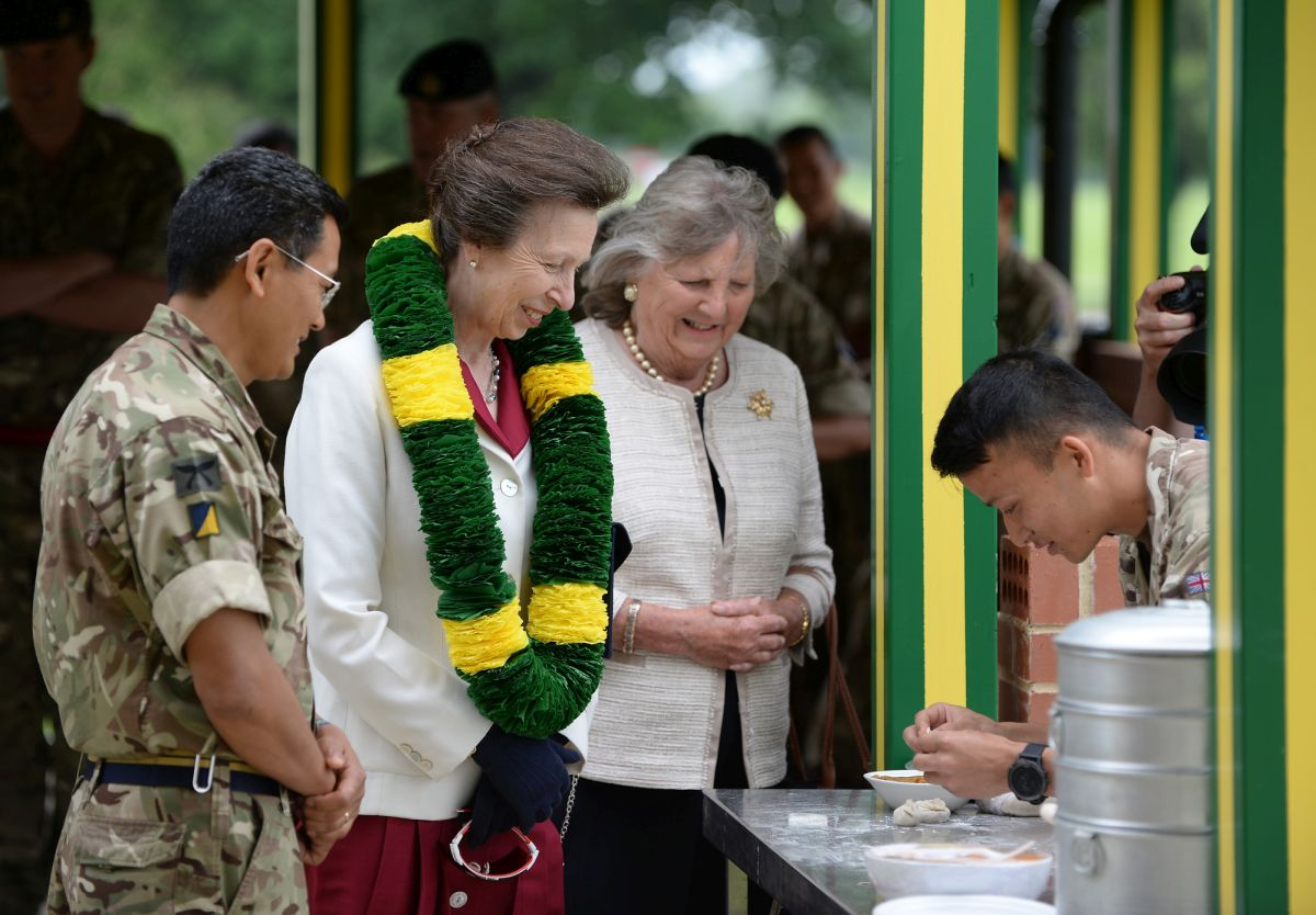 Visit of Her Royal Highness the Princess Royal to the Allied Rapid Reaction Corps Support Battalion in Imjin Barracks on Monday 4th June 2018. Photographer: (Crown Copyright / Warrant Officer Class 2 Tom Robinson GBR Army / Released