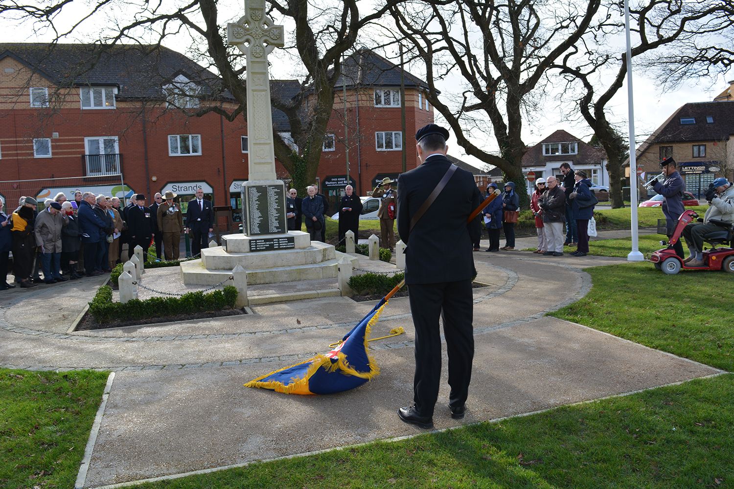 British Legion at New Milton memorial to Major George Campbell VC