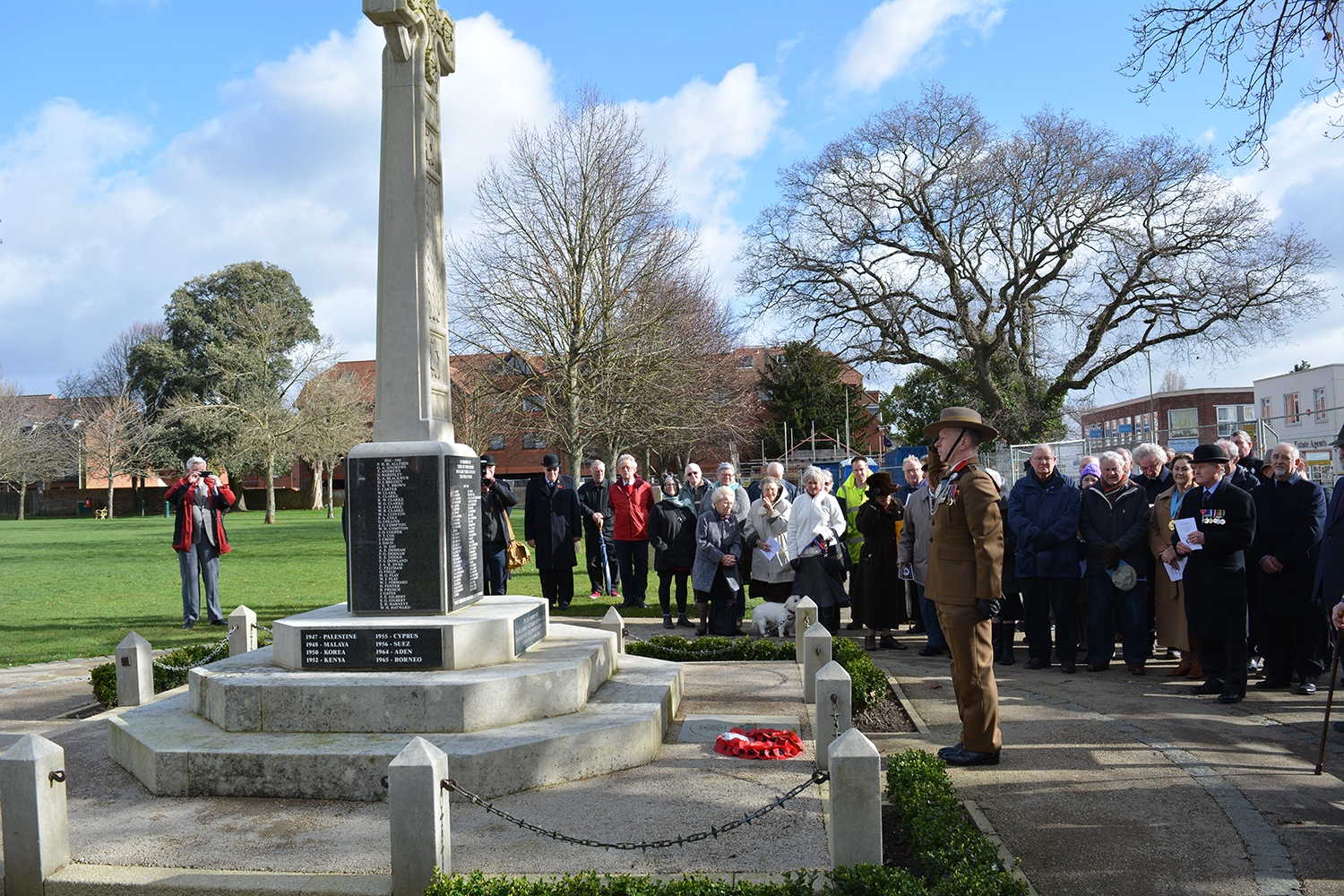 New Milton memorial to Major George Campbell VC