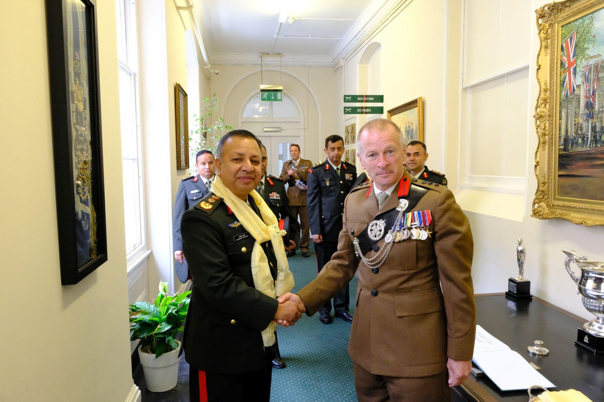 Gen Chhetri COAS Nepal Army visit to HQBG 005