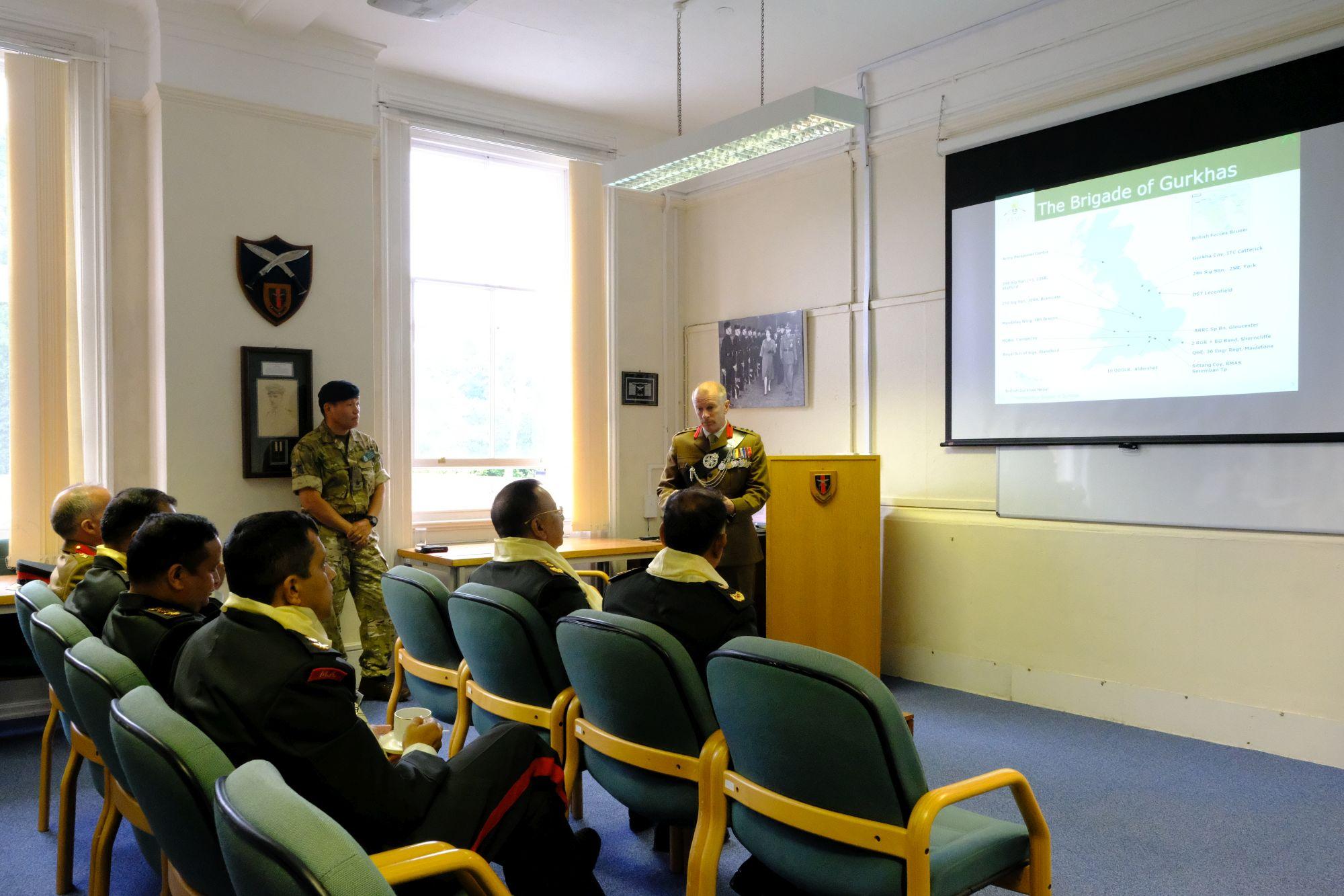 Gen Chhetri COAS Nepal Army visit to HQBG 006