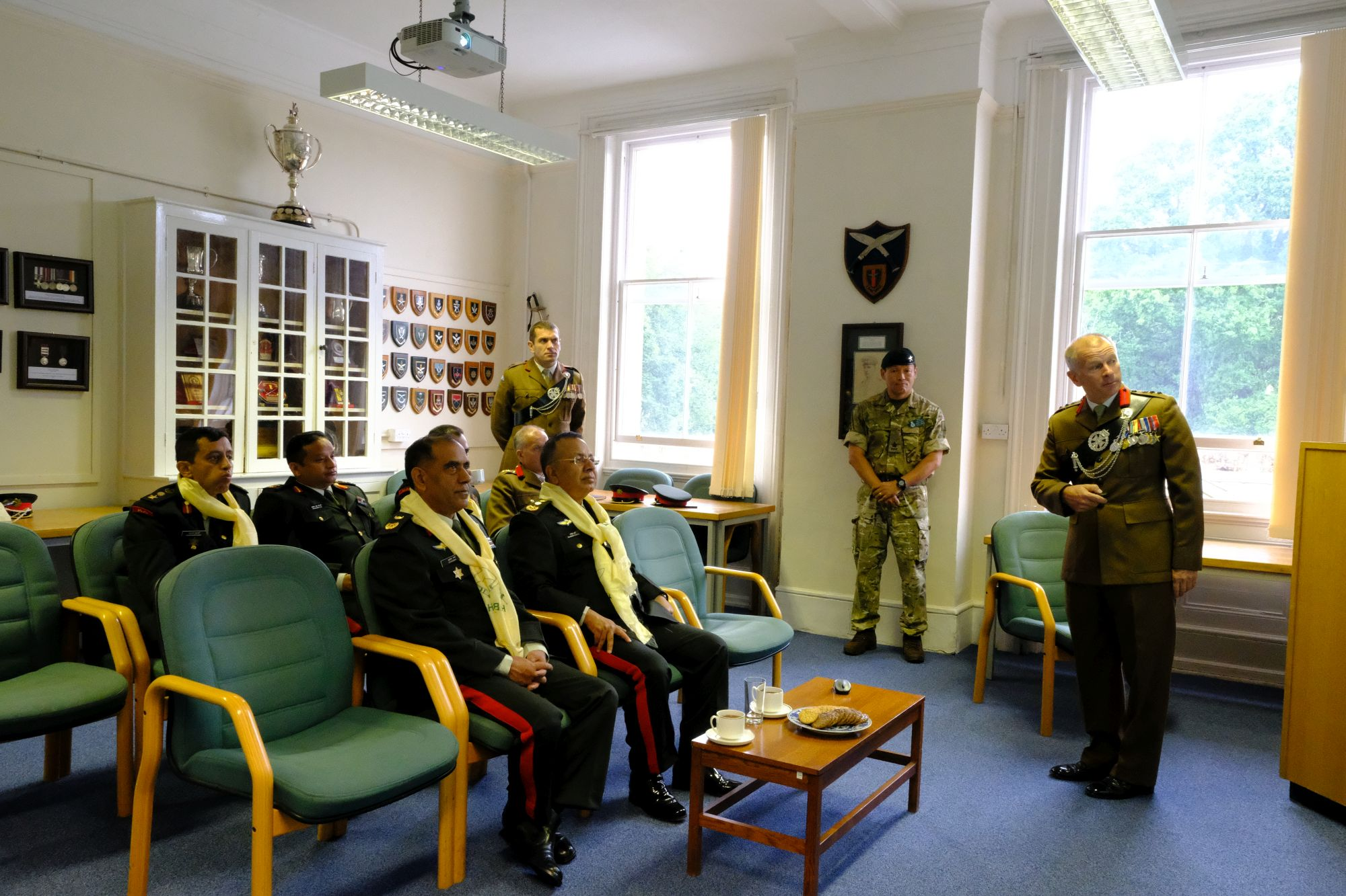 Gen Chhetri COAS Nepal Army visit to HQBG 007
