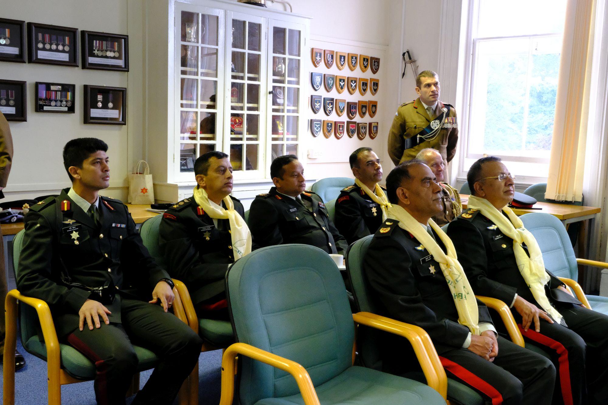 Gen Chhetri COAS Nepal Army visit to HQBG 008