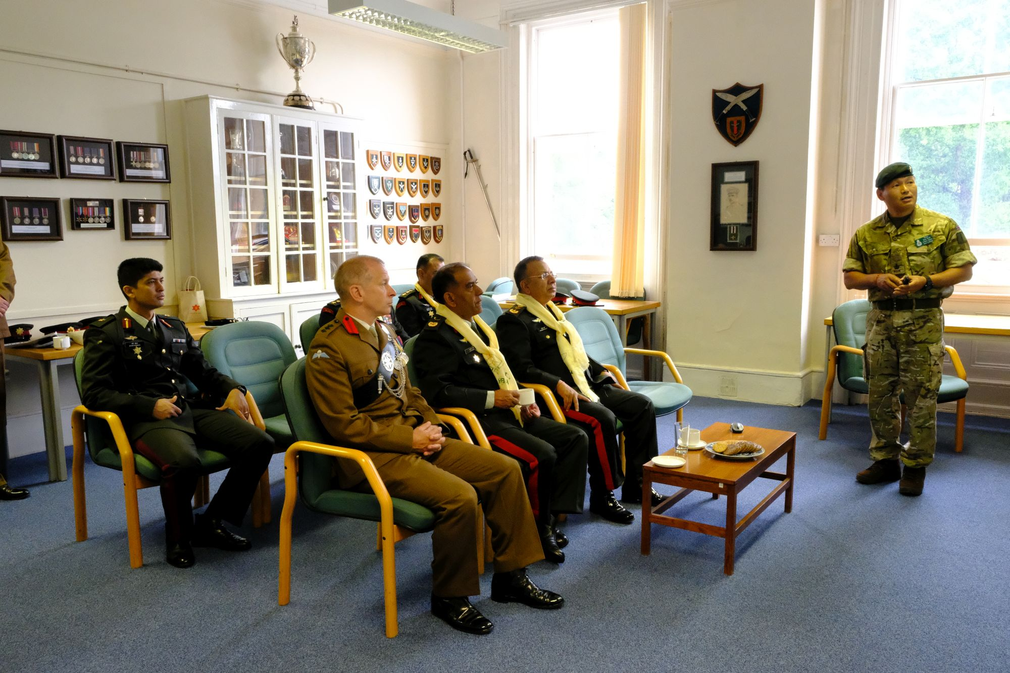 Gen Chhetri COAS Nepal Army visit to HQBG 009