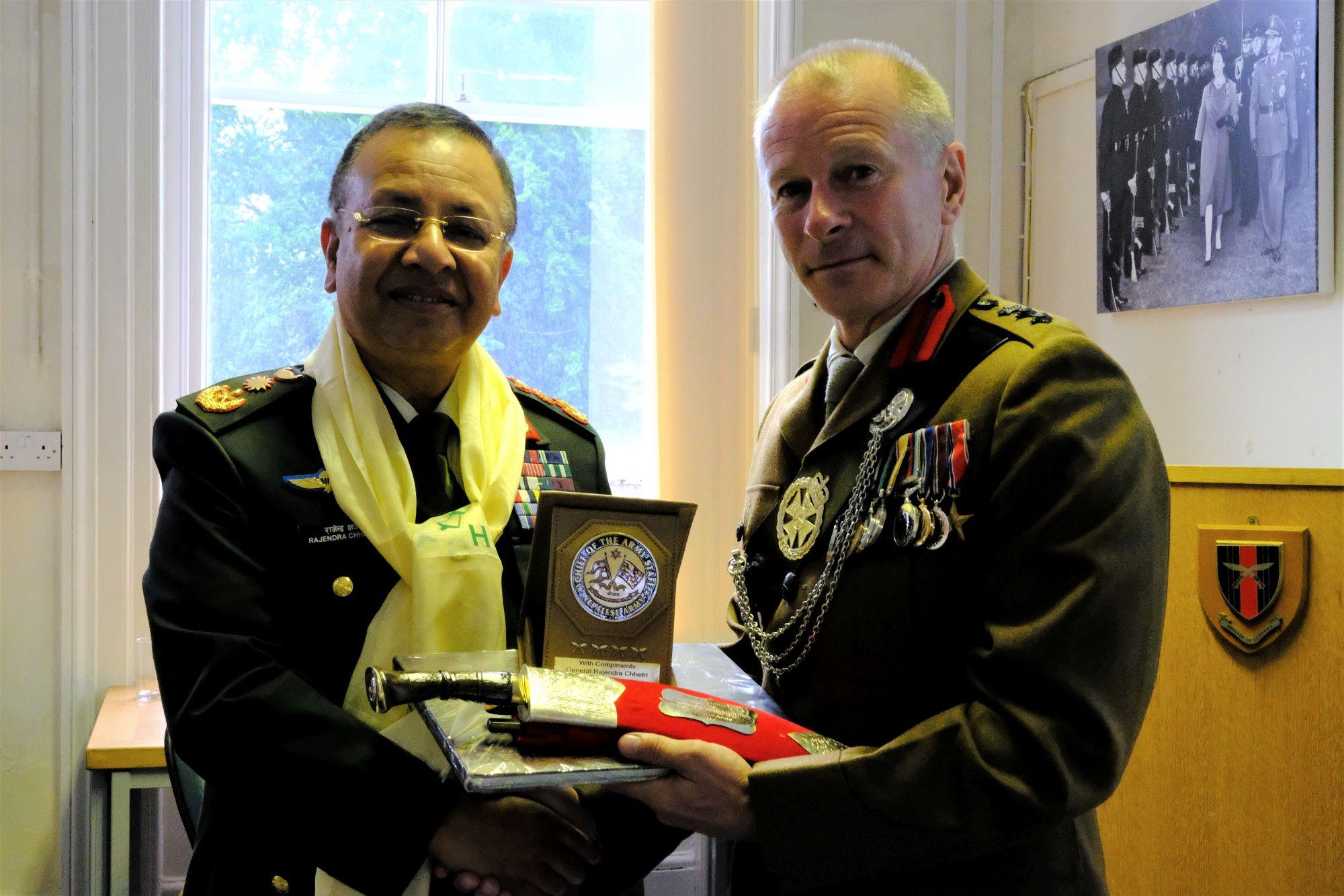 Gen Chhetri COAS Nepal Army visit to HQBG 010