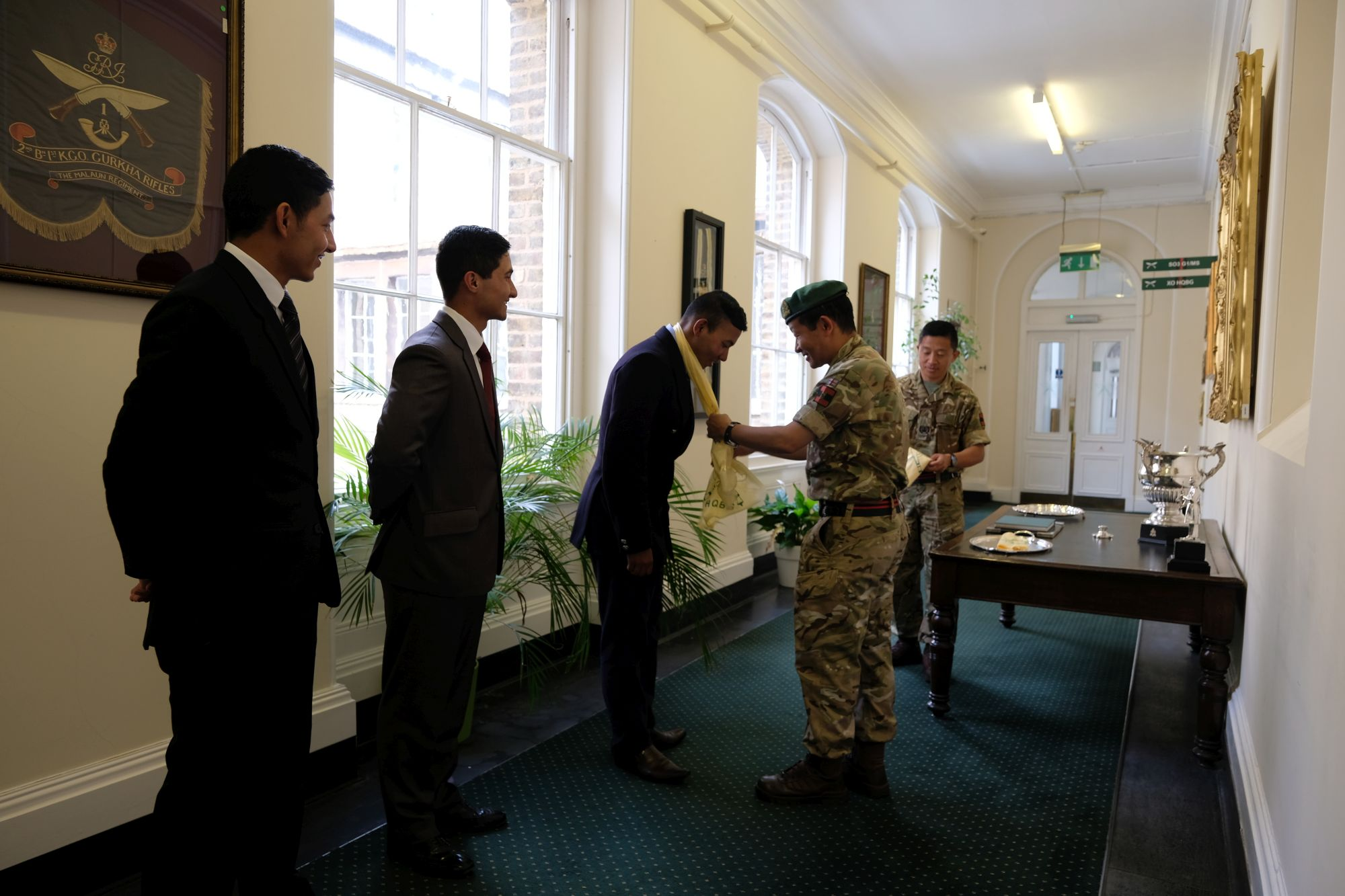 HQBG visit by Nepalese Officer Cadets 002
