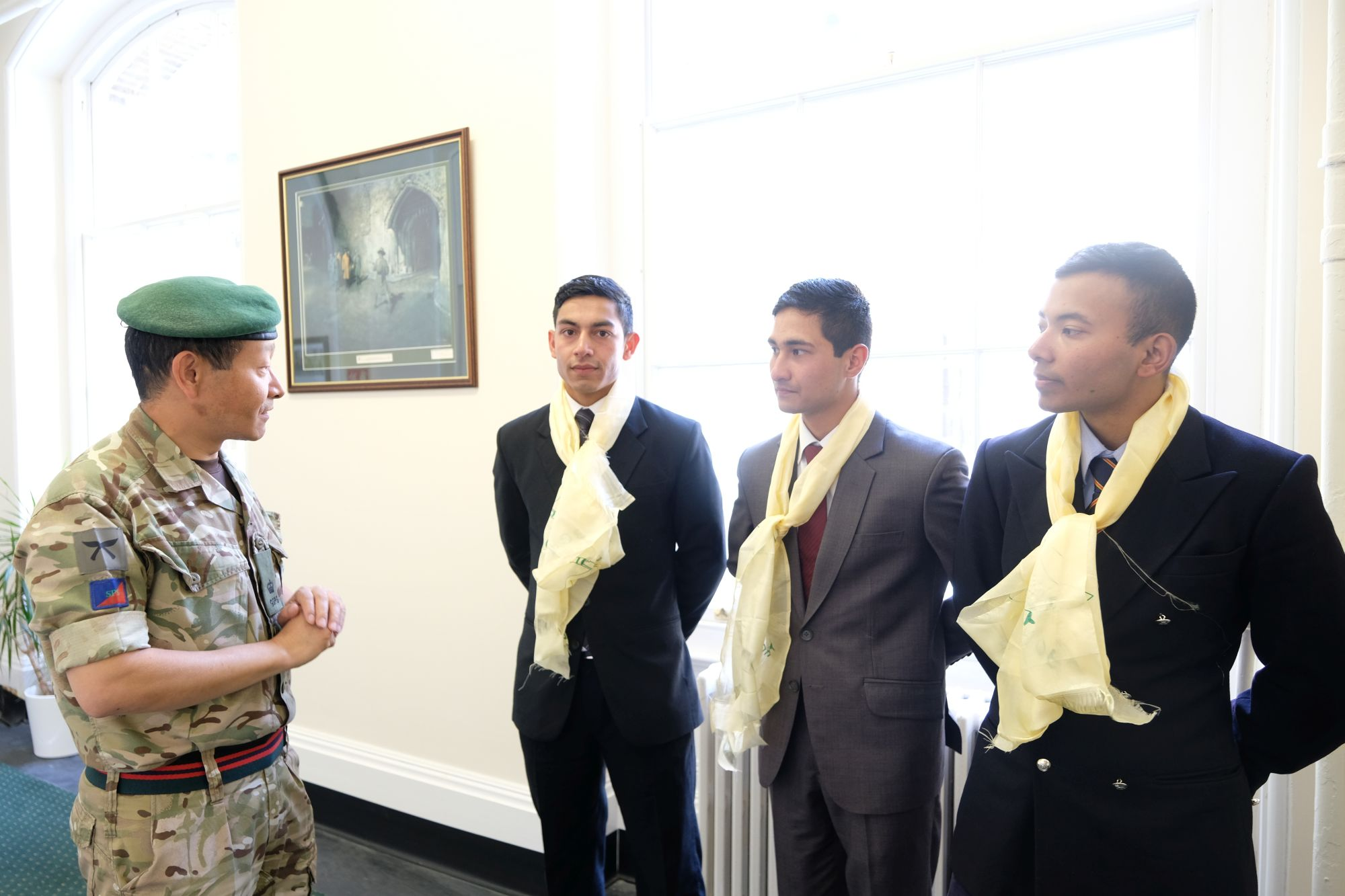 HQBG visit by Nepalese Officer Cadets 003