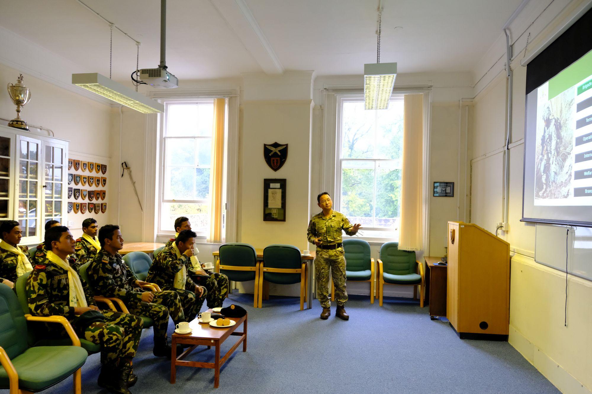 Nepal Army Cambrian Patrol Team Visit HQBG 001