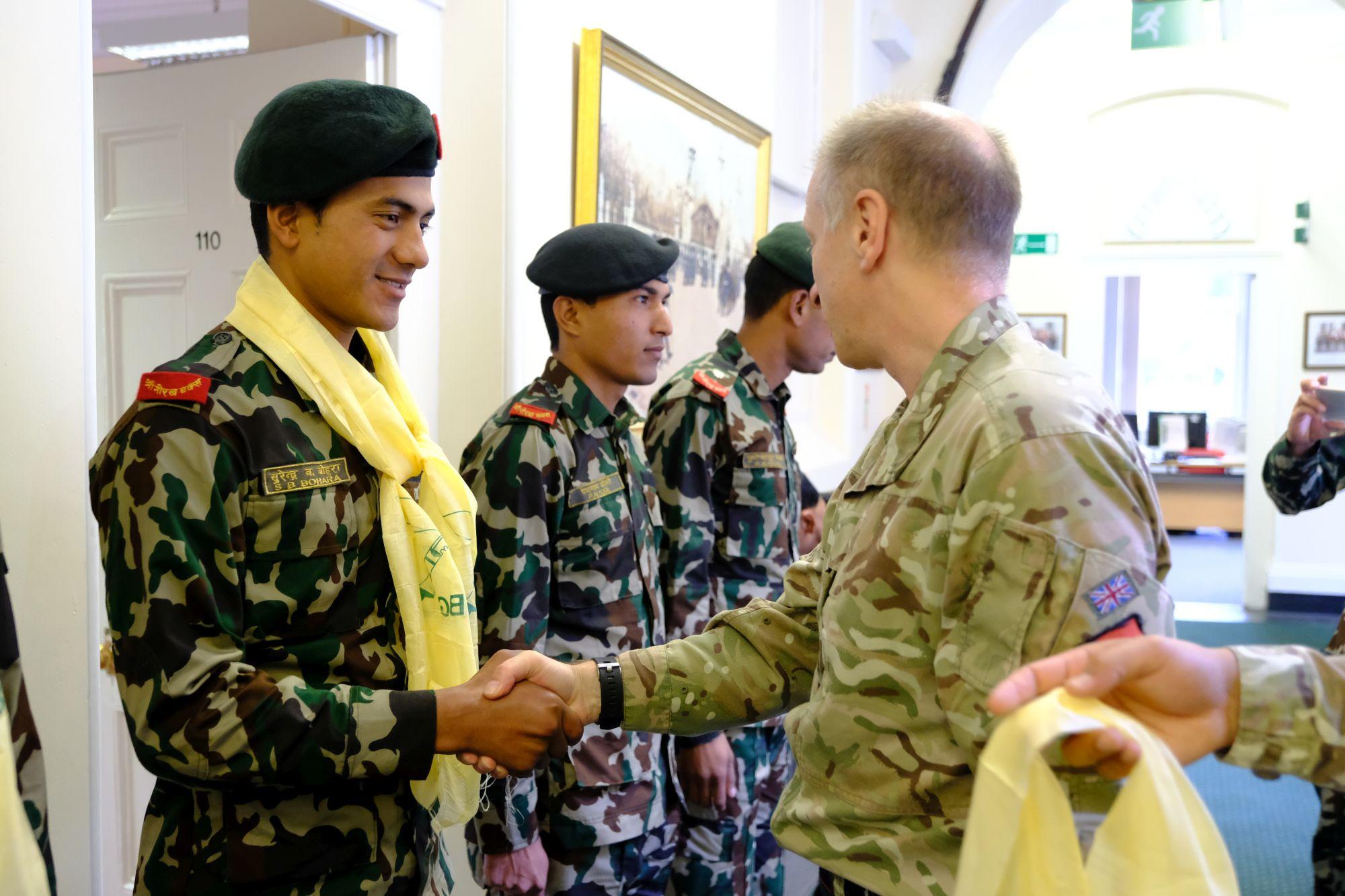 Nepal Army Cambrian Patrol Team Visit HQBG 003