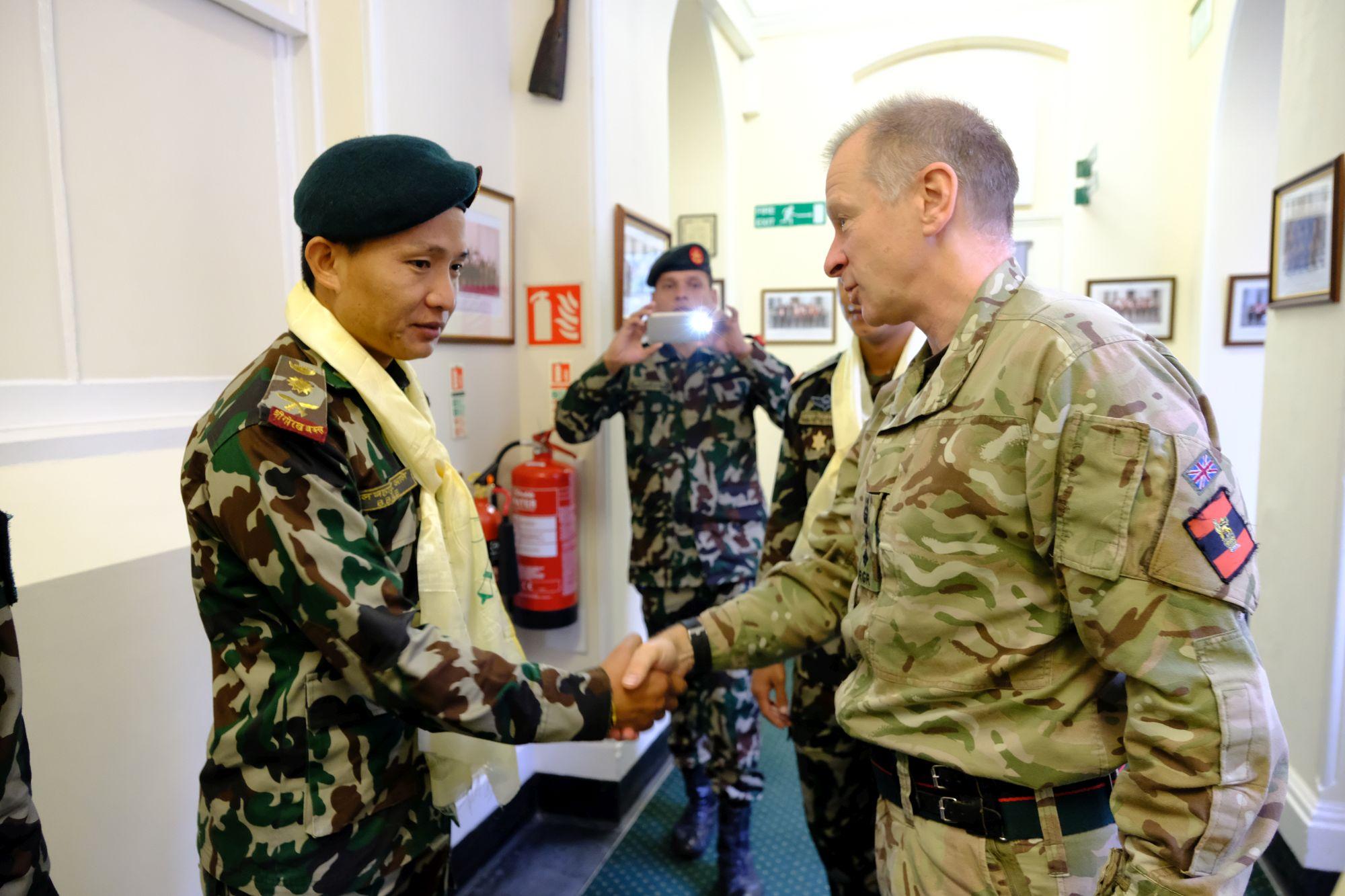 Nepal Army Cambrian Patrol Team Visit HQBG 004