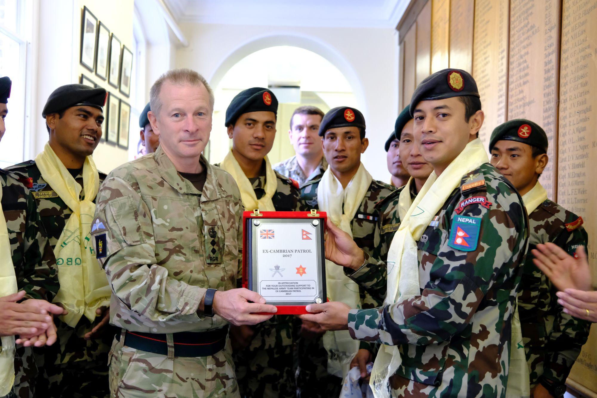 Nepal Army Cambrian Patrol Team Visit HQBG 005