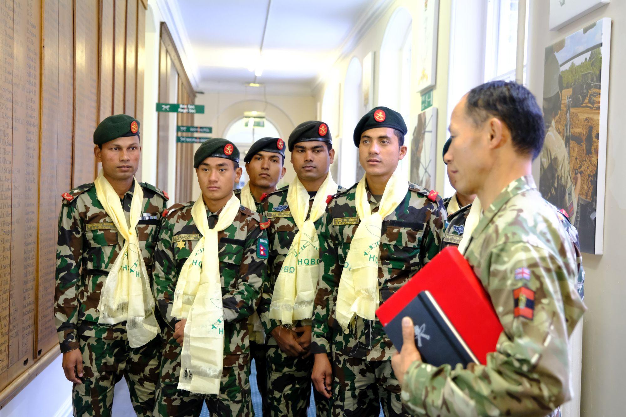 Nepal Army Cambrian Patrol Team Visit HQBG 007