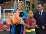 miss-nilly-limbu-presenting-a-bouquet-to-mrs-s-stokoe-after-the-birthday-cake-cutting