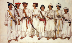 Soldiers from King Pritivi Narayan Shah Gorkha Army