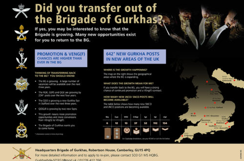 Did you transfer out of the Brigade of Gurkhas?- Poster