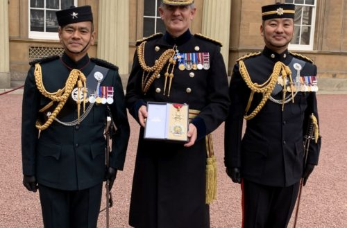 Lieutenant General Sir Nick Pope KCB CBE receives his Knighthood
