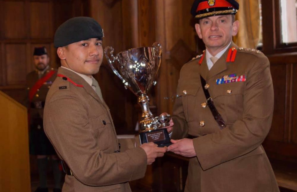 Gurkhas learn the Bagpipes