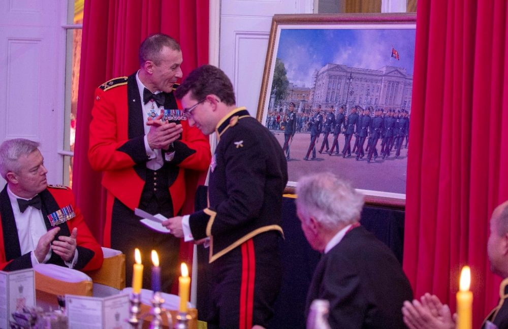 The formal unveiling of the Squadron's painting by Anthony Cowland. (1)