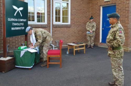 Director Land Warfare Centre Visit By Major General J T E Illingworth