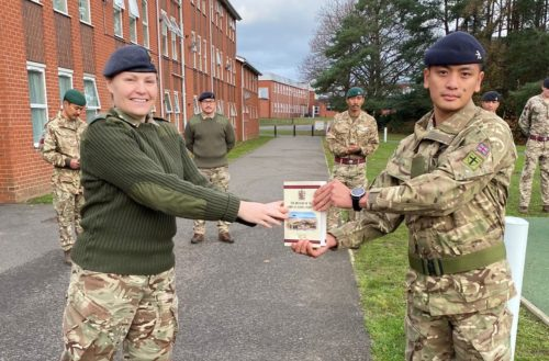 Military Engineering Course was tough but I achieved Top Student Award