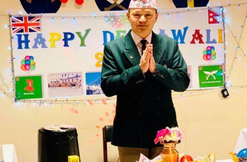 Virtual Tihar Celebration at Gurkha Wing (Mandalay)