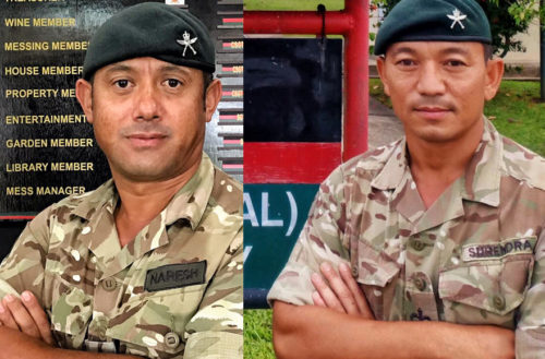 Well done to Warrant Officer Class Two Surendra Tamang and Warrant Officer Class Two Naresh Gurung from The Second Battalion, The Royal Gurkha Rifles who were awarded a Chief of the General Staff Commendation and Standing Joint Command Commendation respectively on the New Years' Honours List 2021.